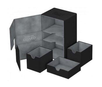 Ultimate Guard Twin Flip N Tray Deck Case Xenoskin Black 160+