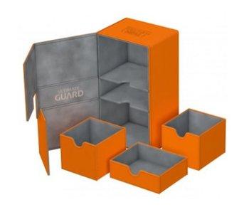 Ultimate Guard Twin Flip N Tray Deck Case Xenoskin Orange 200+