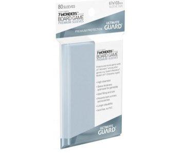 Ultimate Guard Sleeves Premium Bg Cards 7 Wonders 80Ct