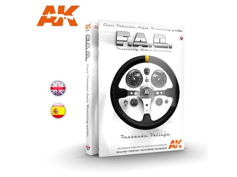 AK Interactive AK Interactive CIVIL VEHICLES SCALE MODELLING F.A.Q - English Book