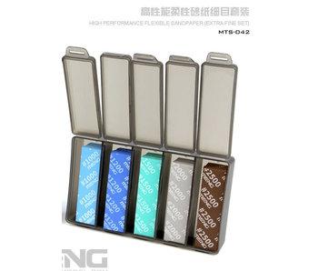 Meng High Performance Flexible Sandpaper, Extra Fine Set - 30Pcs