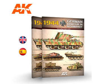 AK Interactive 1944 German Armour In Normandy Camouflage Profile Guide - English Book