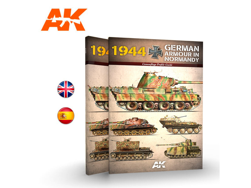 AK Interactive AK Interactive 1944 German Armour In Normandy Camouflage Profile Guide - English Book