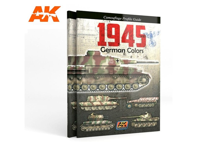 AK Interactive AK Interactive 1945 GERMAN COLORS PROFILE GUIDE English Book