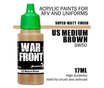 Scale Color War Front Us Medium Brown (SW-50) (17 ml)