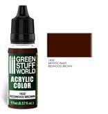 Green Stuff World GSW Acrylic Color REDWOOD BROWN (1832)