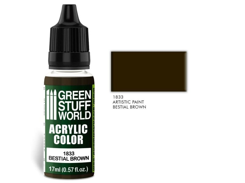 Green Stuff World GSW Acrylic Color BESTIAL BROWN (1833)