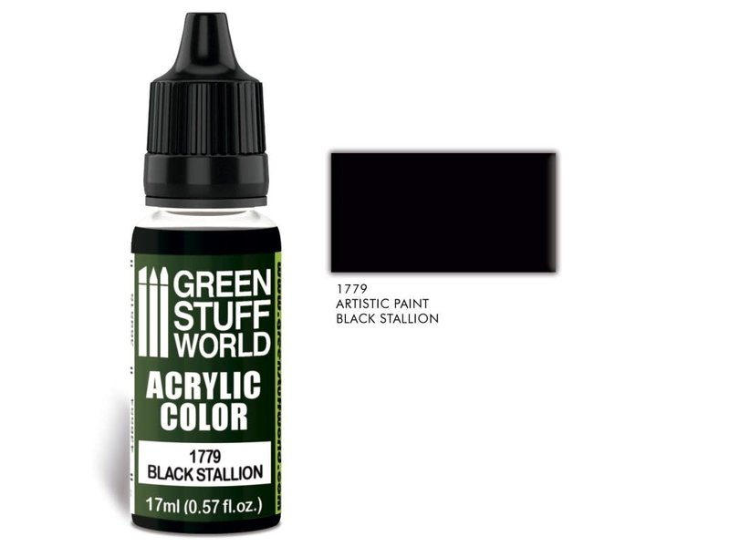 Green Stuff World GSW Acrylic Color BLACK STALLION (1779)