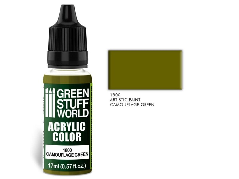 Green Stuff World GSW Acrylic Color CAMOUFLAGE GREEN (1800)