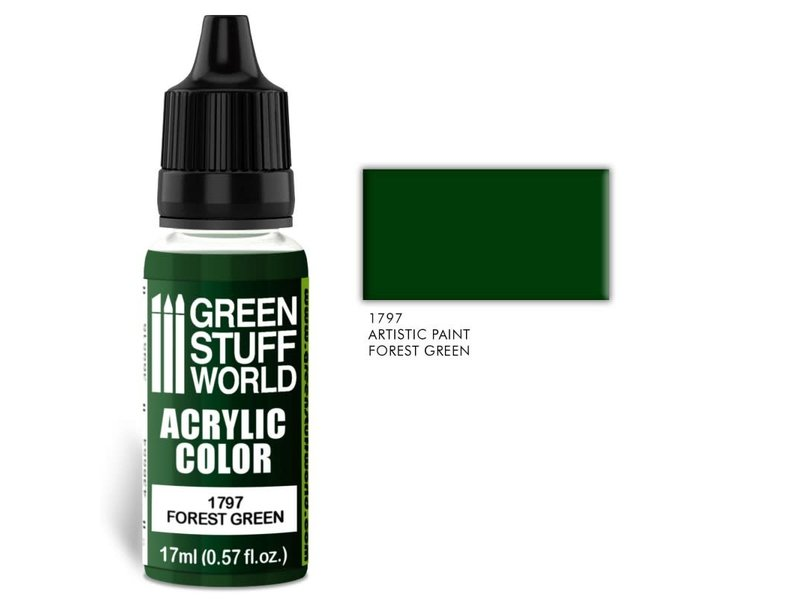 Green Stuff World GSW Acrylic Color FOREST GREEN (1797)