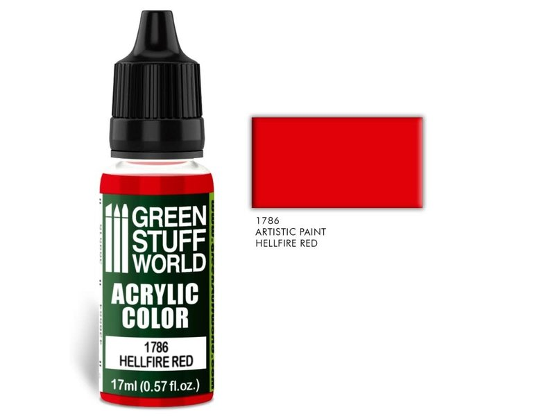 Green Stuff World GSW Acrylic Color HELLFIRE RED (1786)