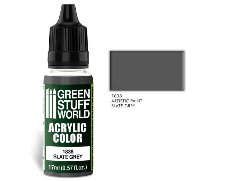 Green Stuff World GSW Acrylic Color SLATE GREY (1838)