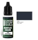 Green Stuff World GSW Acrylic Color STEEL GREY (1842)