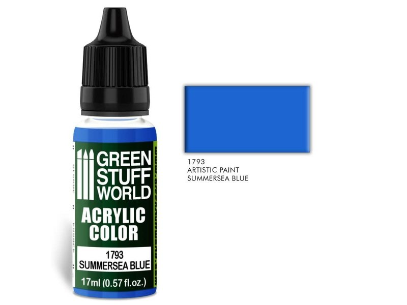 Green Stuff World GSW Acrylic Color SUMMERSEA BLUE (1793)
