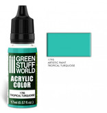 Green Stuff World GSW Acrylic Color TROPICAL TURQUOISE (1795)