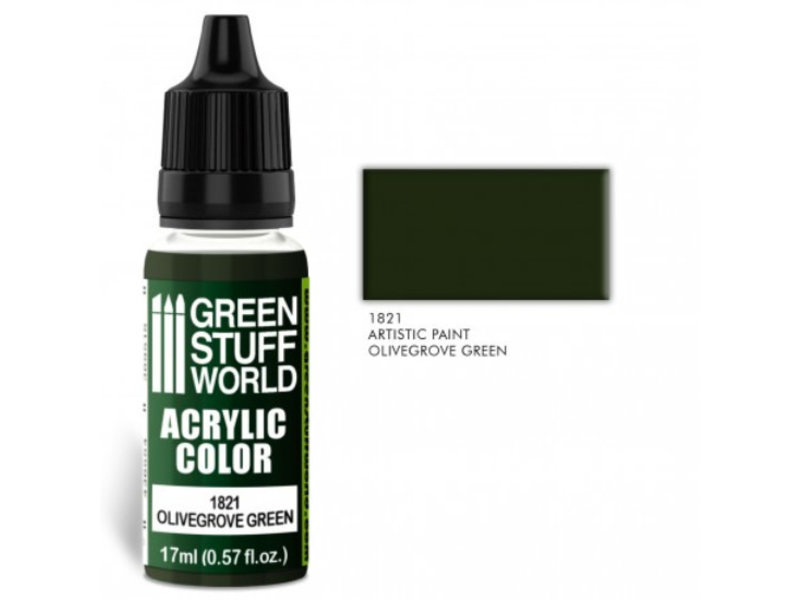 Green Stuff World GSW Acrylic Color OLIVEGROVE GREEN (1821)
