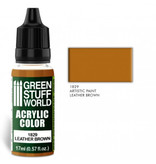 Green Stuff World GSW Acrylic Color LEATHER BROWN (1829)