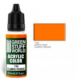 Green Stuff World GSW Acrylic Color FLAMING ORANGE (1784)