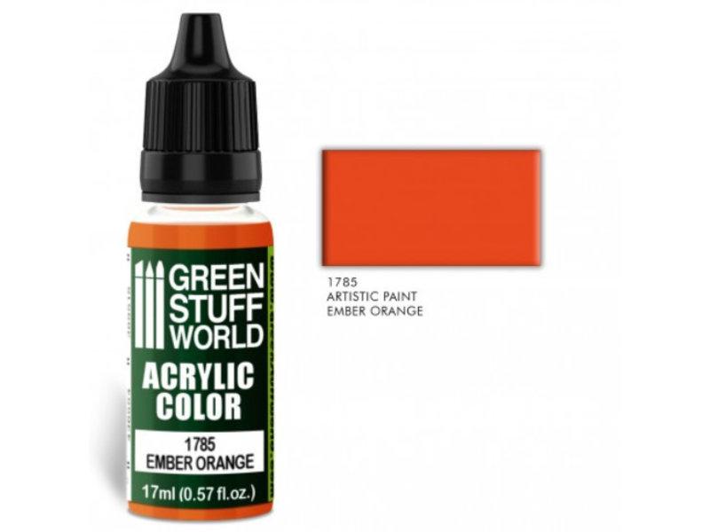 Green Stuff World GSW Acrylic Color EMBER ORANGE (1785)