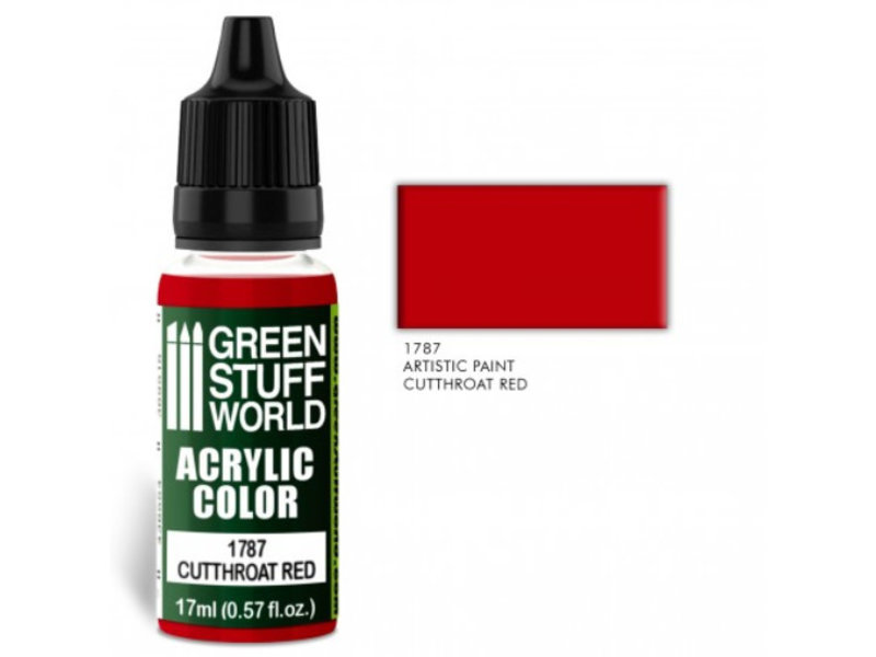 Green Stuff World GSW Acrylic Color CUTTHROAT RED (1787)