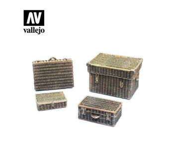 Vallejo Wicker suitcases - 4 Pieces (1/35) (SC227)