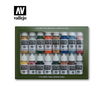 Folkstone Basics Paint Set (16 Colors) (70.101)