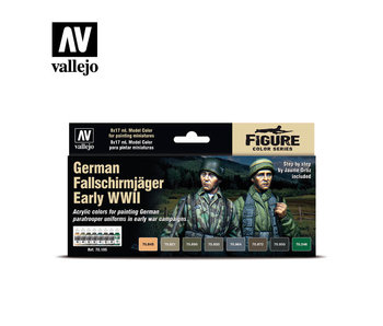 German Falls Chirmjager Early WWII Paint Set (8 Colors) (70.185)