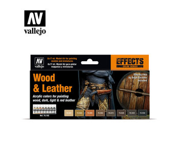 Wood & Leather Paint Set (8 Colors) (70.182)