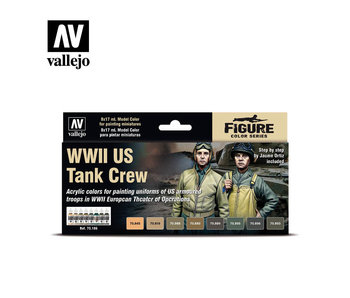 WWII Us Tank Crew Paint Set (8 Colors) (70.186)