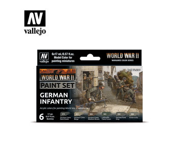 WWII German Infantry Paint Set (6 Colors) (70.206)