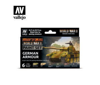 WWII German Armour Paint Set (6 Colors) (70.205)