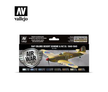 WWII Raf Desert Model Air Paint Set (8 Colors) (71.163)