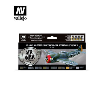 Us Army Air Corps (Eto) WWII Paint Set (8 Colors) (71.182)