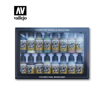 WWII Allied Model Air Paint Set (16 Colors) (71.180)