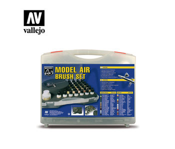 Basic Color Model Air Set With Case Paint Set (29 Colors & Airbrush) (71.172)
