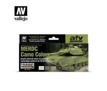 Merdc Camo Colors Model Air Paint Set (8 Colors) (71.202)