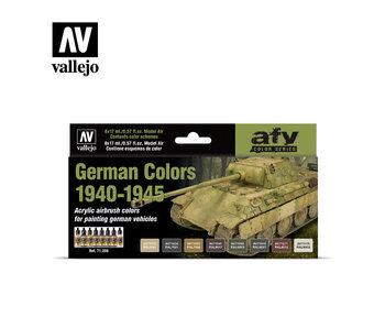 German Colors 1940-1945 Model Air Paint Set (8 Colors) (71.206)