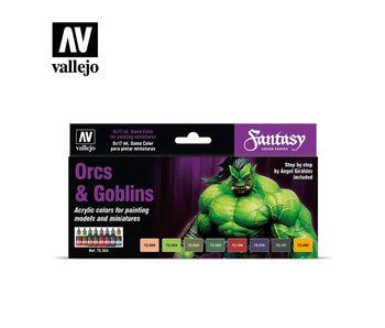 Orcs & Goblins game Color Paint Set (8 Colors) (72.304)