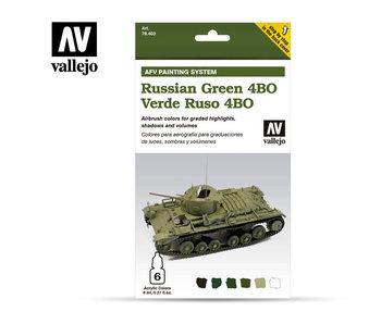 Afv Russian Green 4Bo Paint Set (6 Colors) (78.403)