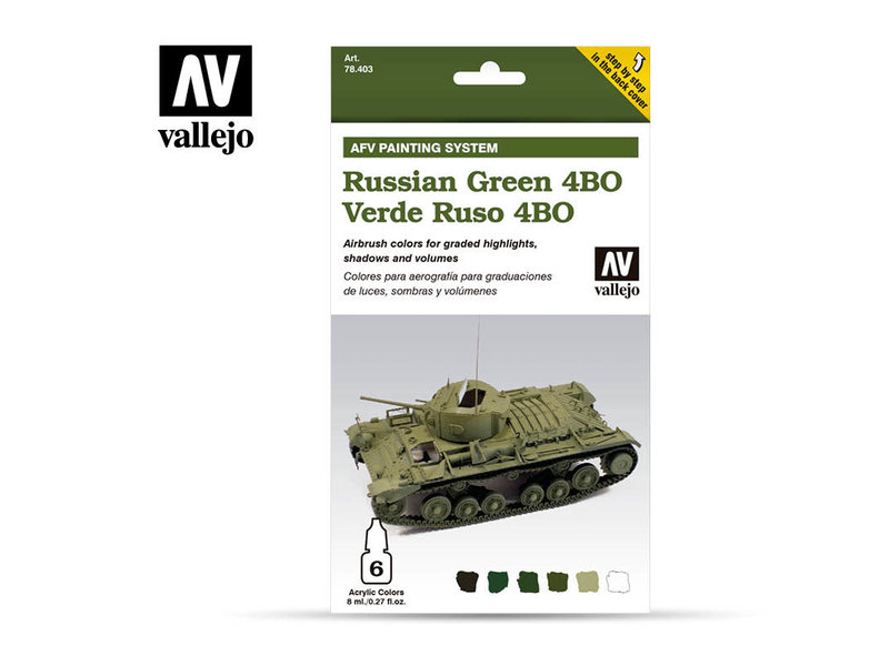 Vallejo Afv Russian Green 4Bo Paint Set (6 Colors) (78.403)