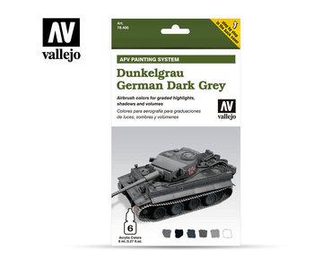 Afv German Dark Grey Paint Set (6 Colors) (78.400)