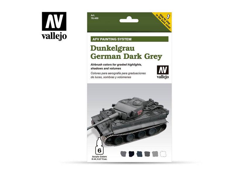 Vallejo Afv German Dark Grey Paint Set (6 Colors) (78.400)