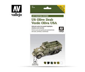 Us Army Olive Drab Paint Set (6 Colors) (78.402)