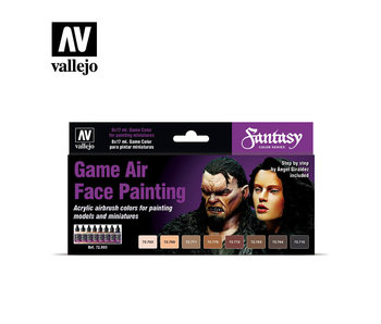 Face Painting By Angel Giraldez Game Air Paint Set (8 Colors) (72.865)