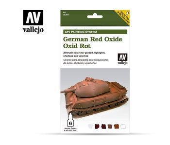 German Red Oxide Paint Set (6 Colors) (78.411)
