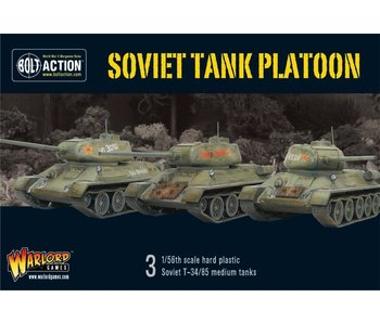 Bolt Action Soviet Armoured Platoon (3 T-34 Plus Infantry)