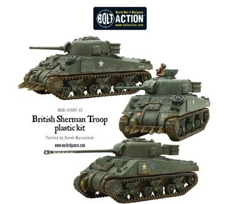 Bolt Action Sherman V Tank Troop (2 Sherman V'S 1 Firefly)