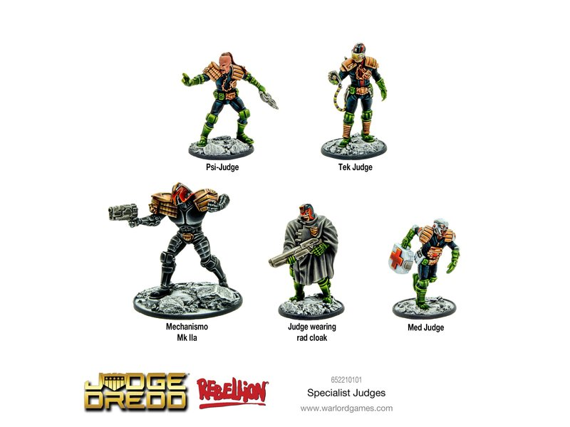 Warlord Games 2000 AD Judge Dredd - Specialist Judges