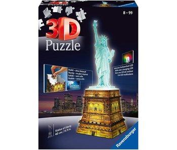 Statue de la Liberté la nuit 3D Puzzle (216pcs)