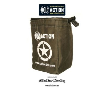 Bolt Action Allied Star Dice Bag (Green)